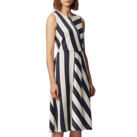 BOSS Navy Stripe Dalta Dress