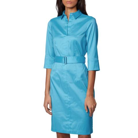 BOSS Blue Daliri1 Belted Dress