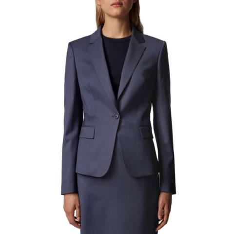 BOSS Navy Jaxtina1 Stretch Suit Jacket