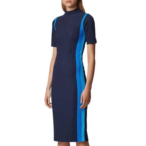 BOSS Navy Edianne Stretch Dress