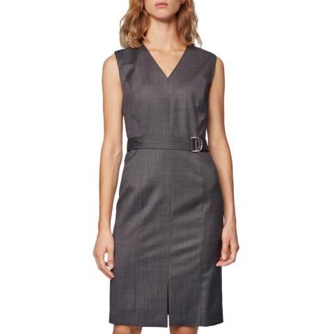 BOSS Grey Decapolis Wool Dress