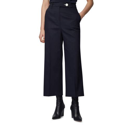 BOSS Navy Tapima Stretch Suit Trousers