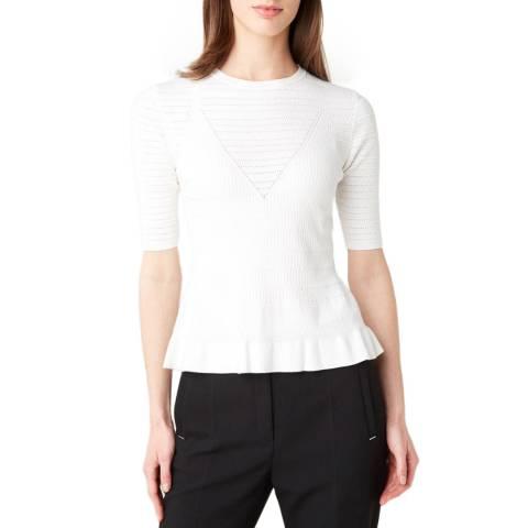 HUGO White Simoney Knit Top
