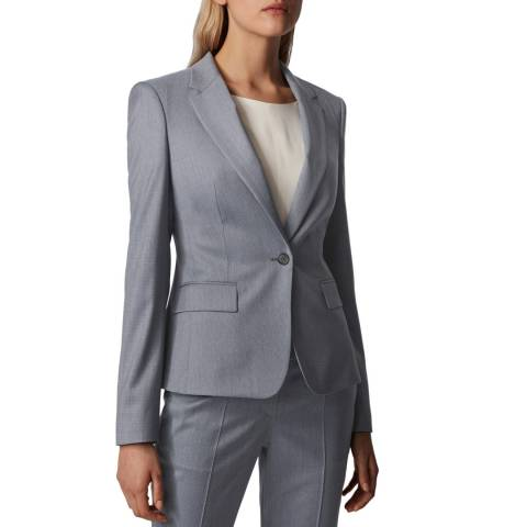 BOSS Grey Jaxtina1 Wool Suit Jacket