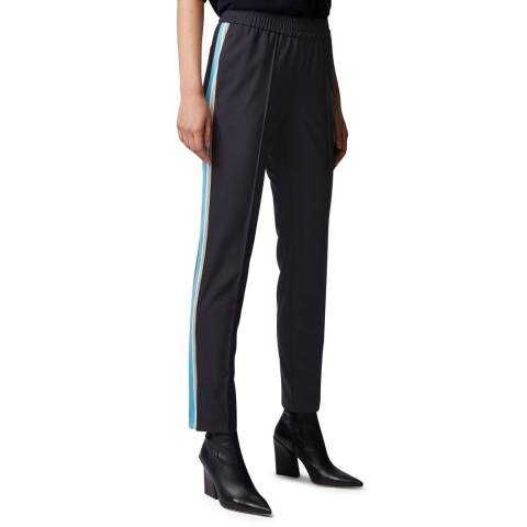 BOSS Navy Tahwi Stretch Trousers