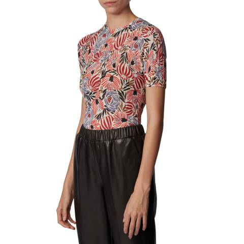 BOSS Multi Floral Faislee Knit Top