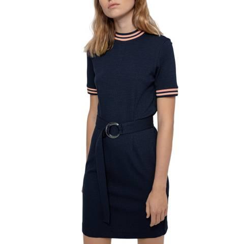 HUGO Navy Niele Short Sleeve Dress