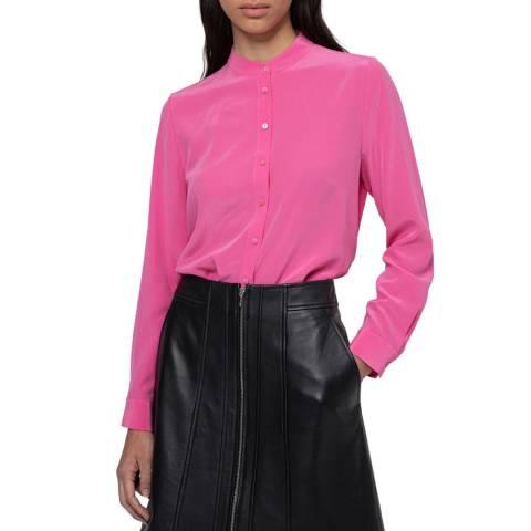 HUGO Pink Egea Silk Blouse