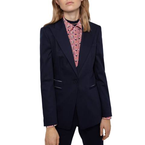 HUGO Navy Aletas Stretch Suit Jacket