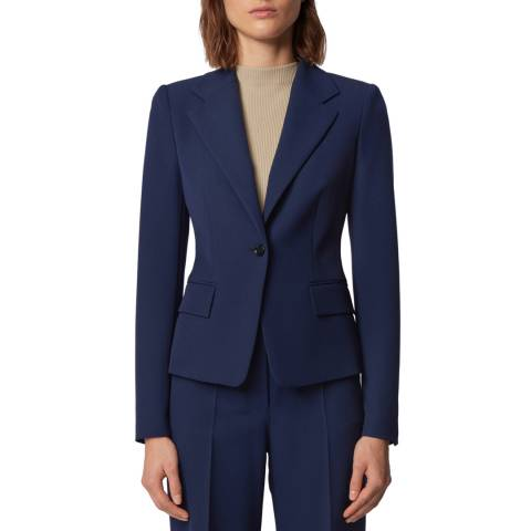 BOSS Navy Jaya1 Stretch Suit Jacket