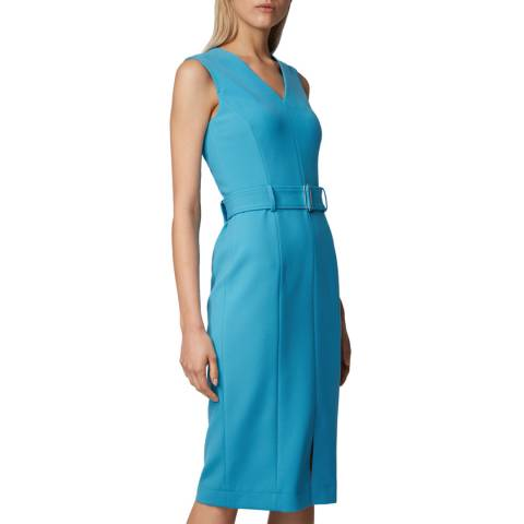 BOSS Blue Dadorina Belted Dress