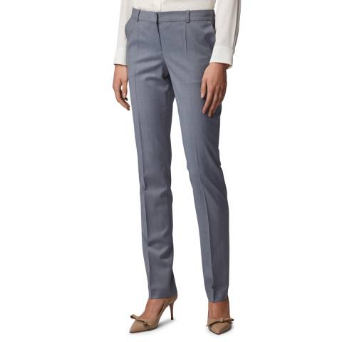 BOSS Grey Titana6 Wool Suit Trousers