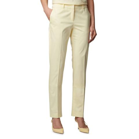 BOSS Yellow Titana6 Stretch Suit Trousers