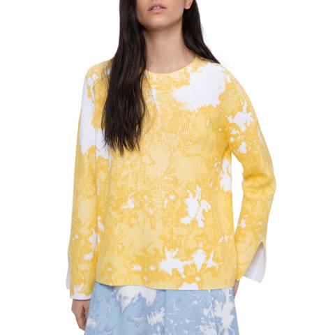 HUGO Yellow Print Senecy Jumper