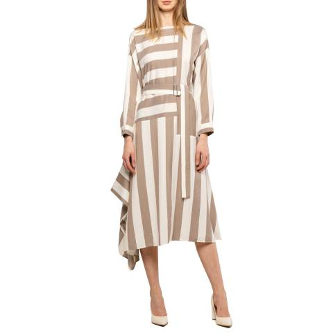 BOSS Beige Stripe Deriga Dress
