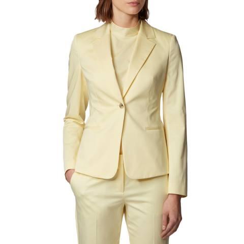 BOSS Yellow Jaya Stretch Suit Jacket