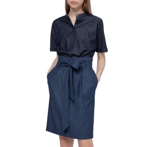 HUGO Navy Radila Tie Waist Skirt