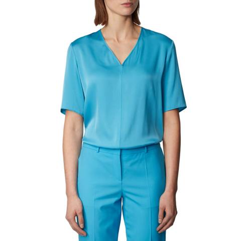 BOSS Blue Ivala Short Sleeve Top