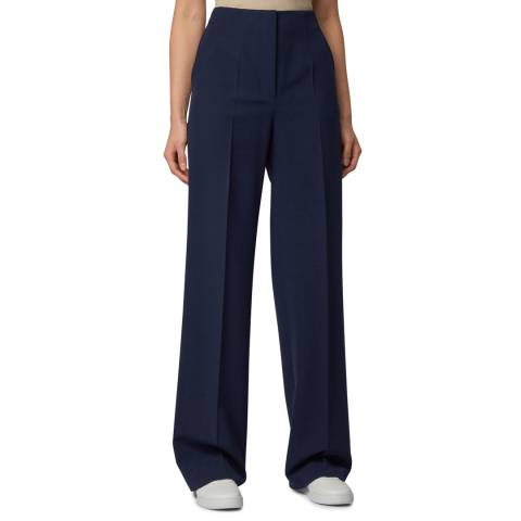 BOSS Navy Tarius Stretch Suit Trousers