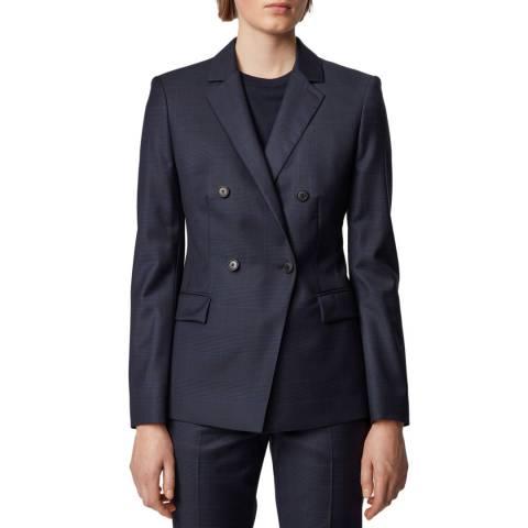 BOSS Navy Jacelynne Wool Suit Jacket