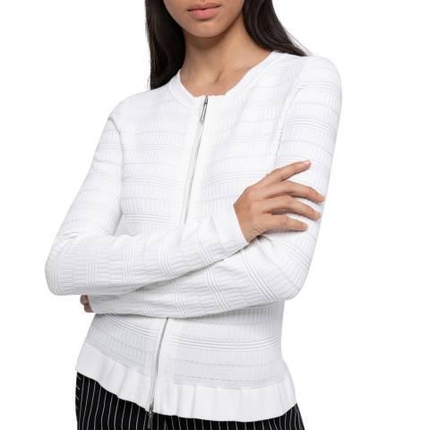HUGO White Sanery Peplum Jacket