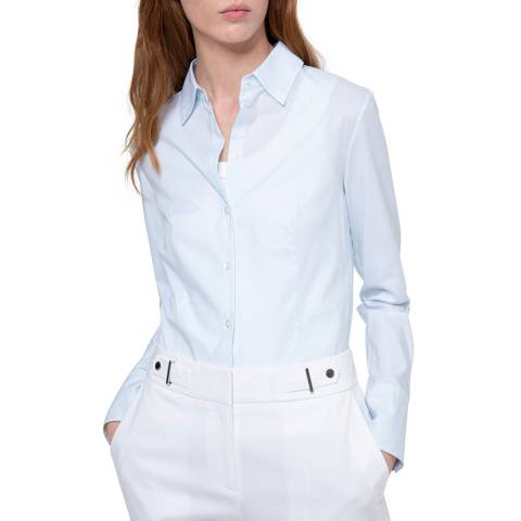 HUGO Light Blue The Fitted Stretch Shirt