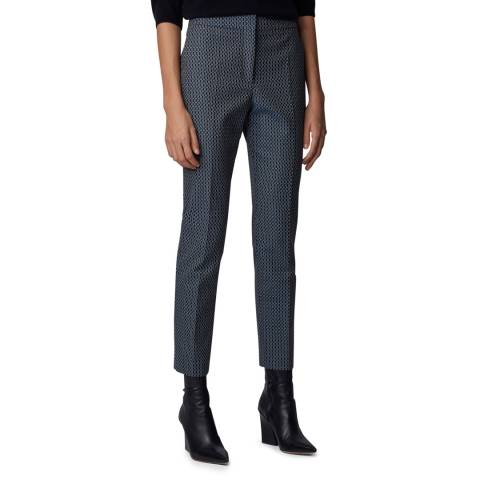BOSS Charcoal Tacnes Stretch Suit Trousers