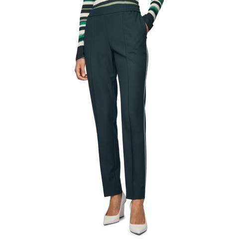 BOSS Dark Green Tahwani Stretch Trousers