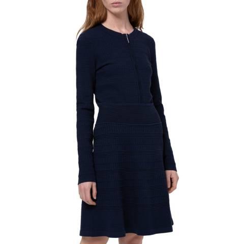 HUGO Navy Shanahan Knit Dress