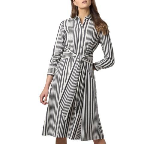 BOSS Grey Stripe Debrana Dress