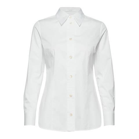 BOSS White Bavidbo Stretch Shirt