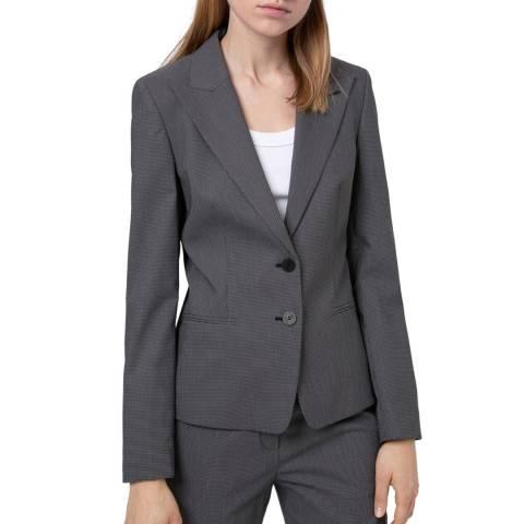 HUGO Grey Aninas Tailored Stretch Suit Jacket