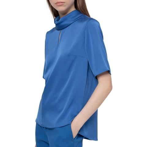 HUGO Blue Celi-1 Silk Blend Top