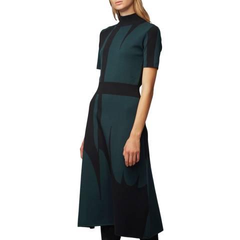 BOSS Navy Print Faeh Dress