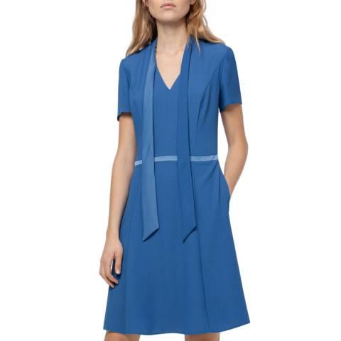 HUGO Blue Kevari Short Sleeve Dress