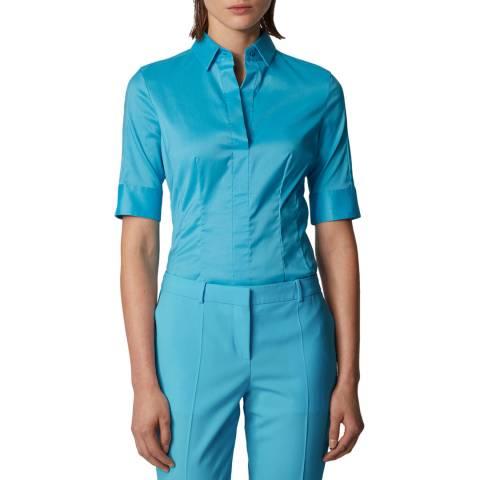 BOSS Blue Bashini Short Sleeve Blouse