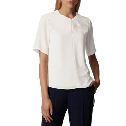 BOSS White Iagela Short Sleeve Top