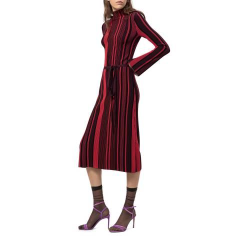 HUGO Red Stripe Stormin Knit Dress