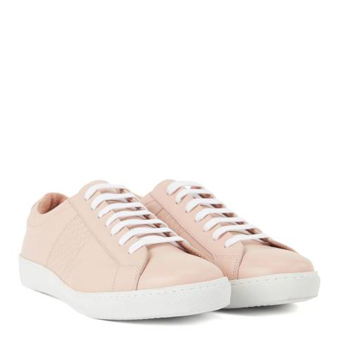 BOSS Light Beige Olga Low Cut-Hbco Leather Trainers
