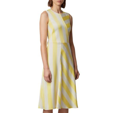 BOSS Yellow Stripe Dalta Dress