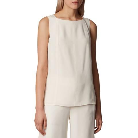 BOSS White Imilia Silk Vest Top
