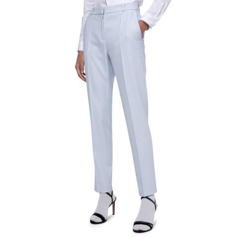 HUGO Light Blue Herila Stretch Suit Trousers