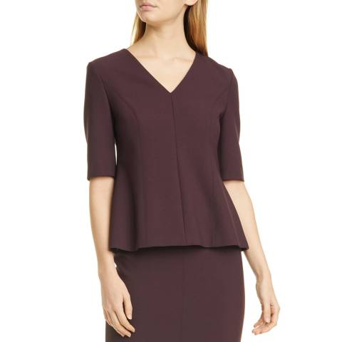 BOSS Plum Ipeplum V-Neck Top