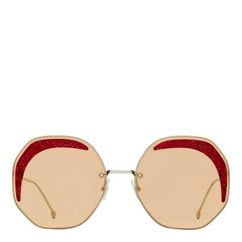 Fendi Women's Yellow Fendi Sunglasses 63mm