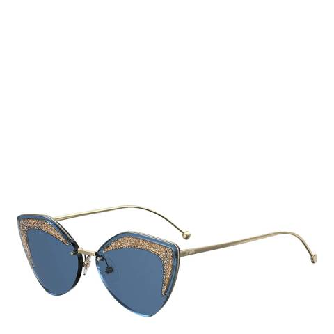 Fendi Women's Teal Fendi Sunglasses 66mm
