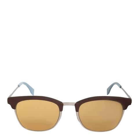 Fendi Men's Silver/Brown Fendi Sunglasses 50mm