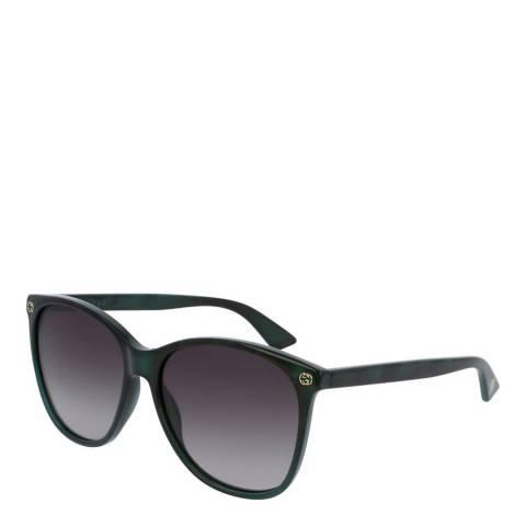 Gucci Women's Dark Green Gucci Sunglasses 58mm