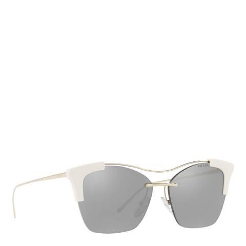 Prada Women's Silver/White Prada Sunglasses 56mm