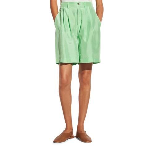 Vince Mint Drapey Silk Shorts