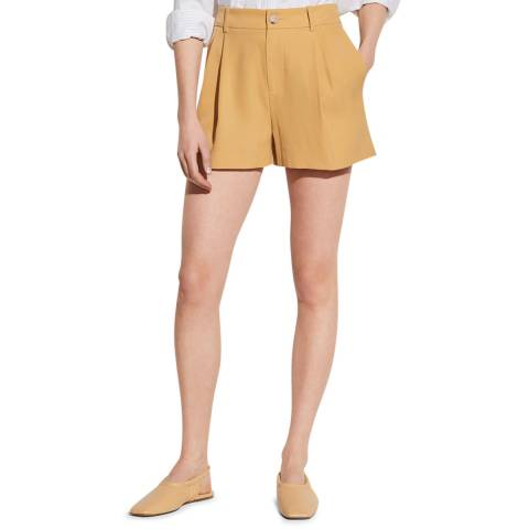 Vince Yellow High Rise Shorts